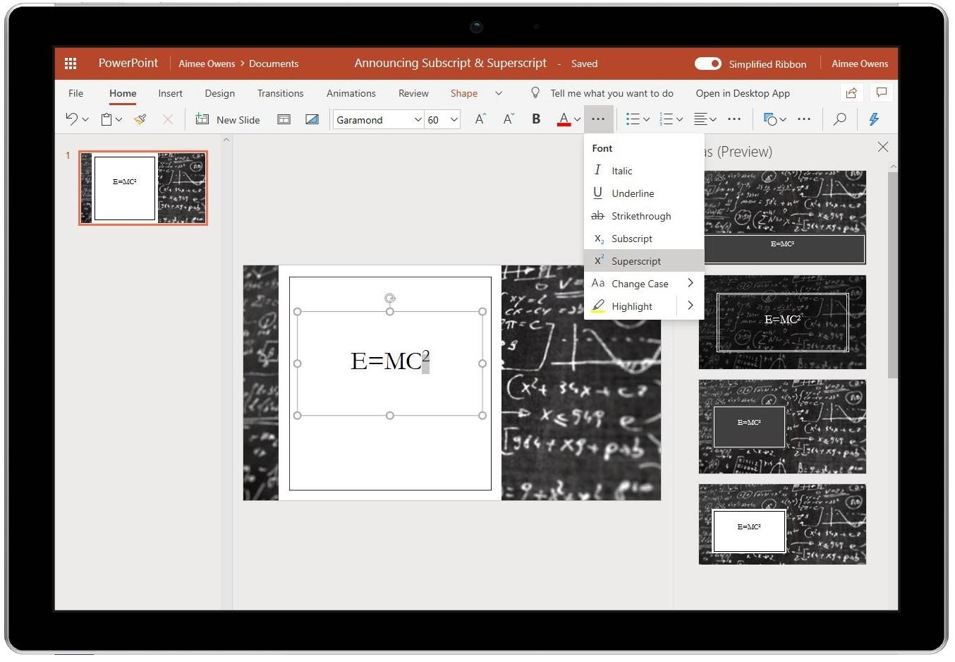 New for PowerPoint on the web
